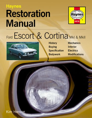 9781859609781: Ford Escort and Cortina Mk I and Mk II: Restoration Manual (Haynes Restoration Manuals)