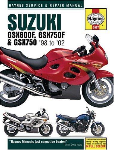 9781859609873: Suzuki GSX600, GSX750F & 98-02 (Haynes Repair Manual)