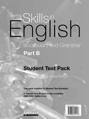 Volcabulary and Grammar: Pt. B (Starting Skills in English S.) (9781859644133) by Terry Phillips; Anna Phillips