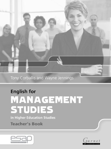 9781859644416: English for Management Studies Teacher's Book (English for Specific Academic Purposes)