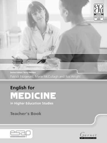 9781859644430: English for Medicine Teacher Book: Teacher's Book (English for Specific Academic Purposes)
