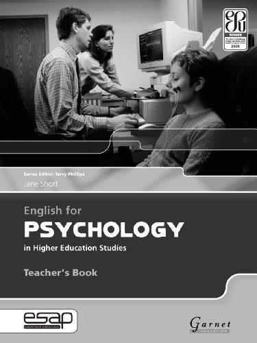 9781859644478: English for Psychology Teacher Book
