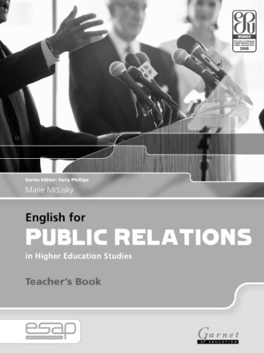 9781859645338: English for Public Relations in Higher Education Studies: Teacher's Book