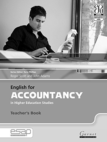 9781859645604: English for Accountancy in Higher Education Studies - Teacher's Book