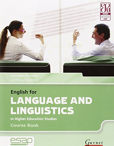 9781859649381: English for Language and Linguistics in Higher Education Studies: Course Book and Audio CDs (English for Specific Academic Purposes): 1