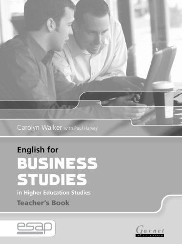 9781859649442: English for Business Studies Teacher Book: Teacher's Studies (English for Specific Academic Purposes)