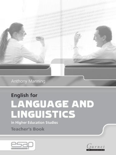 9781859649466: English for Language and Linguistics Teacher Book (English for Specific Academic Purposes)