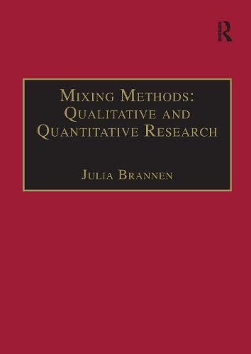 9781859721162: Mixing Methods: Qualitative and Quantitative Research (Social Policy)