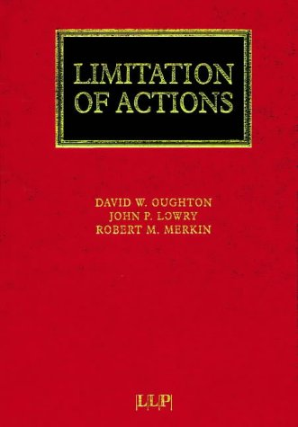 Limitation Of Actions (Lloyds Commercial Law Library)