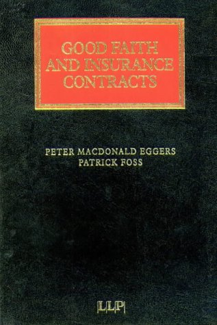 9781859781838: Good Faith in Insurance Contracts (Lloyd's Insurance Law Library)