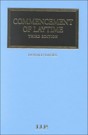 9781859781968: Commencement of Laytime