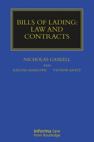 9781859784808: Bills of Lading: Law and Contracts (Maritime and Transport Law Library)