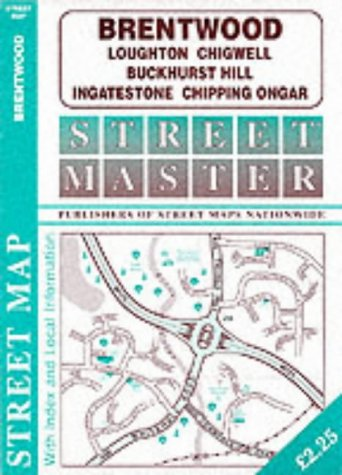 9781859827550: Brentwood (Streetmaster Maps)