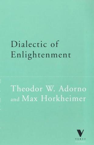 9781859841549: Dialectic of Enlightenment (Verso Classics)