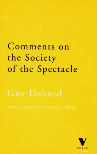 9781859841693: Comments on the Society of the Spectacle (Verso Classics)