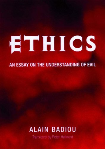 9781859842973: Ethics: An Essay on the Understanding of Evil (Wo es War S.)