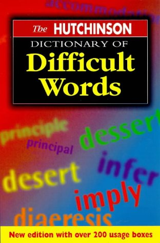 9781859862490: The Hutchinson Dictionary of Difficult Words (Helicon Language)