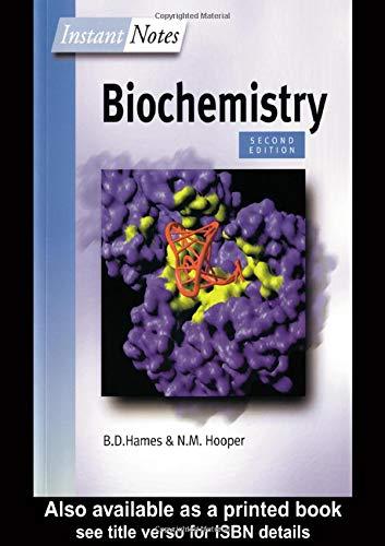 BIOS Instant Notes in Biochemistry: David Hames, Nigel