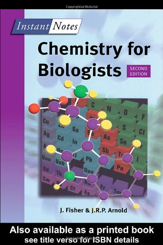 9781859963555: BIOS Instant Notes in Chemistry for Biologists