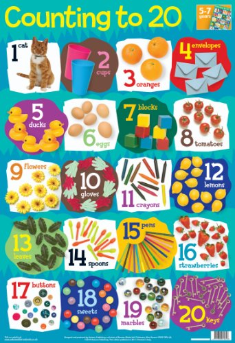 9781859972823: Numbers 1-20 Wall Chart