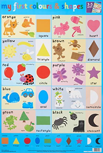 9781859974261: Colours and Shapes Wall Chart (Wall Charts)