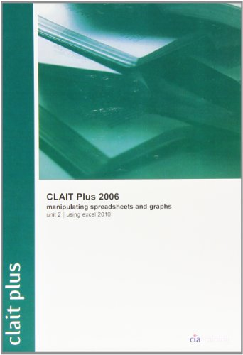 Clait Plus 2006 Unit 2 Manipulating Spreadsheets and Graphs Using Excel 2010: CIA Training Ltd