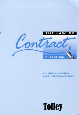 9781860127939: The Law of Contract
