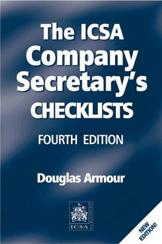9781860721885: The ICSA Company Secretary's Checklists