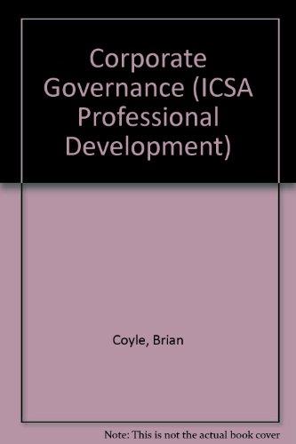 9781860722677: Corporate Governance (ICSA Professional Development)