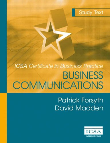 9781860722738: Business Communications (Icsa Certificate In Business Practice)
