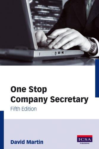 9781860723704: One Stop Company Secretary