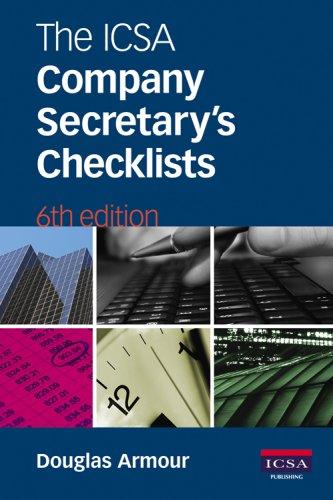 9781860723780: The ICSA Company Secretary's Checklists