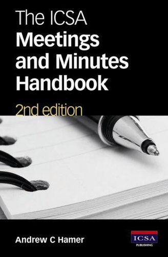 9781860724336: The ICSA Meetings and Minutes Handbook