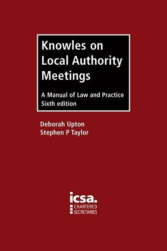 9781860724398: Knowles on Local Authority Meetings