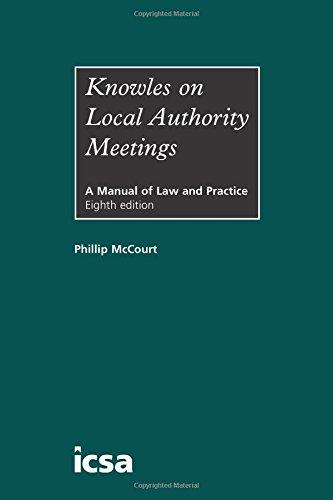 Knowles on Local Authority Meetings (Hardback): Phillip McCourt