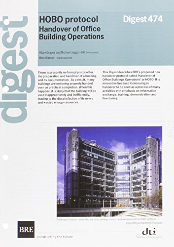 9781860816024: Handover of Office Building Operations Protocol (HOBO)