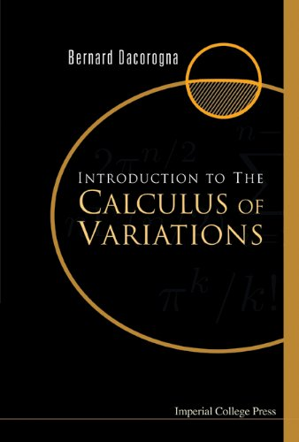 9781860944994: Introduction to the Calculus of Variations