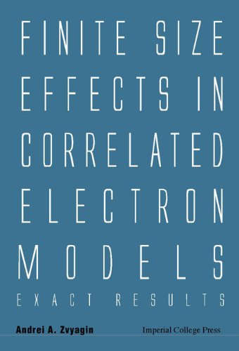 Finite Size Effects in Correlated Electron Models: Andrei A. Zvyagin