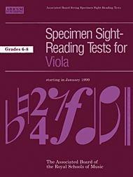 9781860960314: Specimen Sight-Reading Tests for Viola: Grades 6-8
