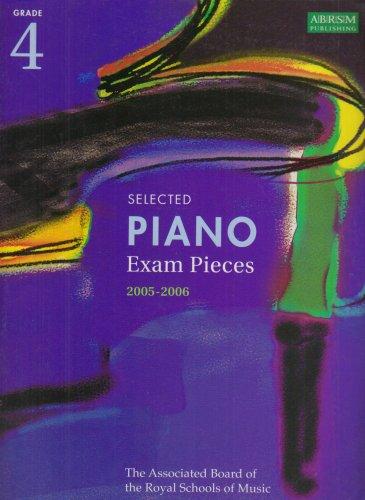 9781860964121: Selected Piano Examination Pieces 2005-2006: Grade 4