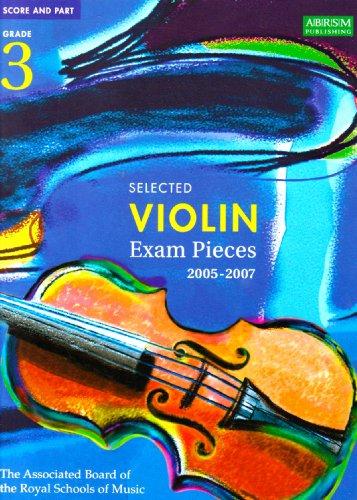9781860964749: Selected Violin Examination Pieces 2005-2007: Grade 3