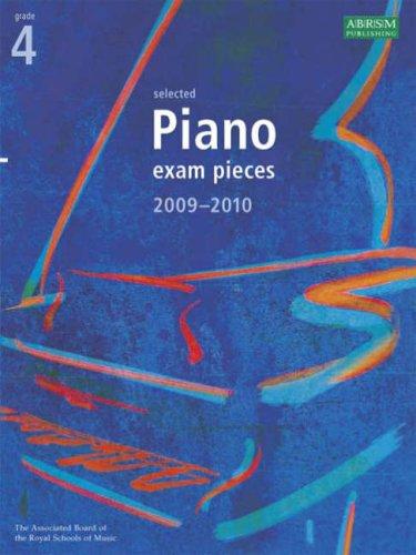 9781860967344: Selected Piano Exam Pieces 2009-2010: Grade 4