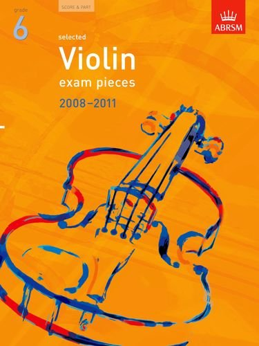 9781860967627: Selected Violin Exam Pieces 2008-2011, Grade 6, Score & Part