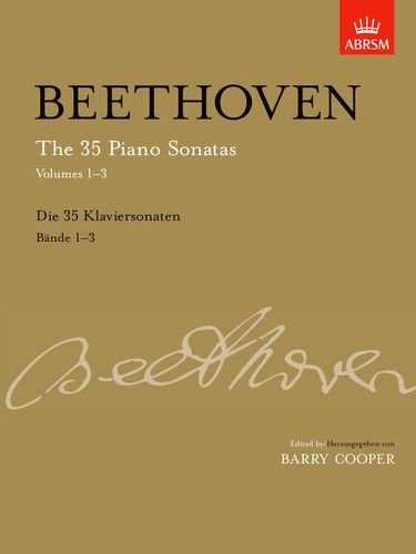 The 35 Piano Sonatas: v. 1-3: Beethoven, Ludwig Van