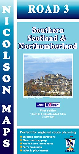 9781860973369: Road 3: Southern Scotland & Northumberland OS (Nicolson Road Maps)
