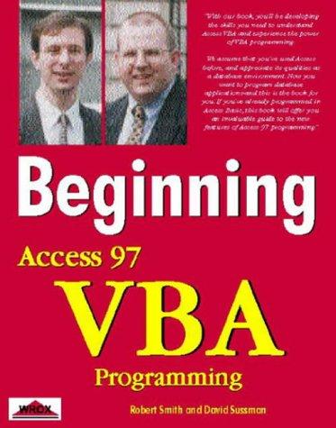 9781861000866: Beginning Access 97 Vba Programming