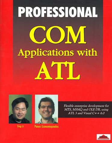 9781861001702: Professional Com Applications With Atl