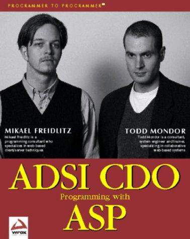 9781861001900: ADSI CDO Programming with ASP (Programmer to Programmer)