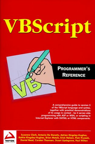 9781861002716: VBScript programmer's reference (en anglais)