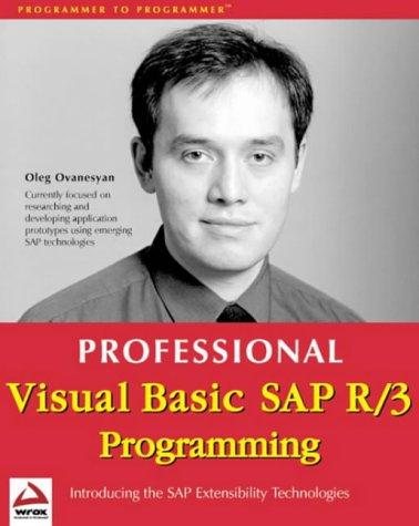 9781861002785: Professional VB SAP R/3 Programming